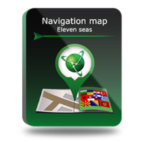 "PROMO! Navigation map ""11 seas"" Screen shot"