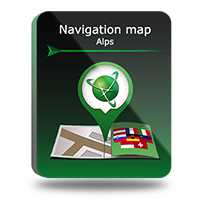 "PROMO! Navigation map ""Alps"" Screen shot"