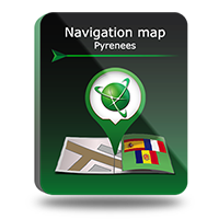 "PROMO! Navigation map ""Pyrenees"" Screen shot"